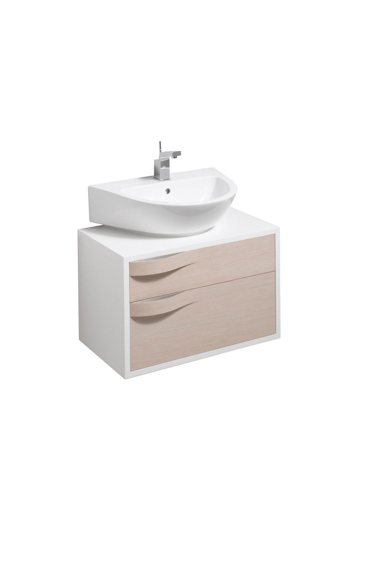 koupelnový nábytek KERAMAG Flow skříňka pod umyvadlo světlý dub