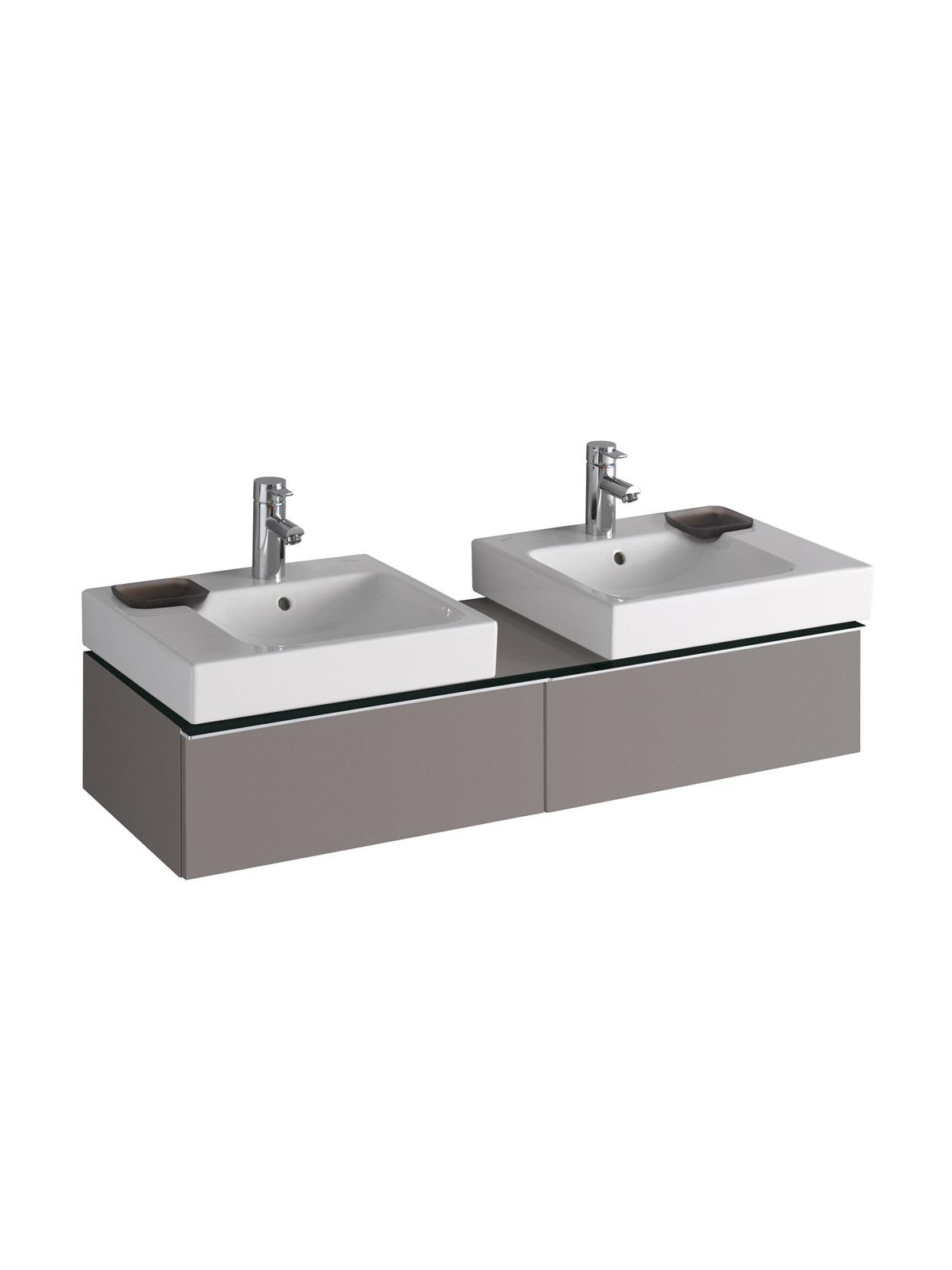 koupelnový nábytek KERAMAG Icon levá+pravá platinum