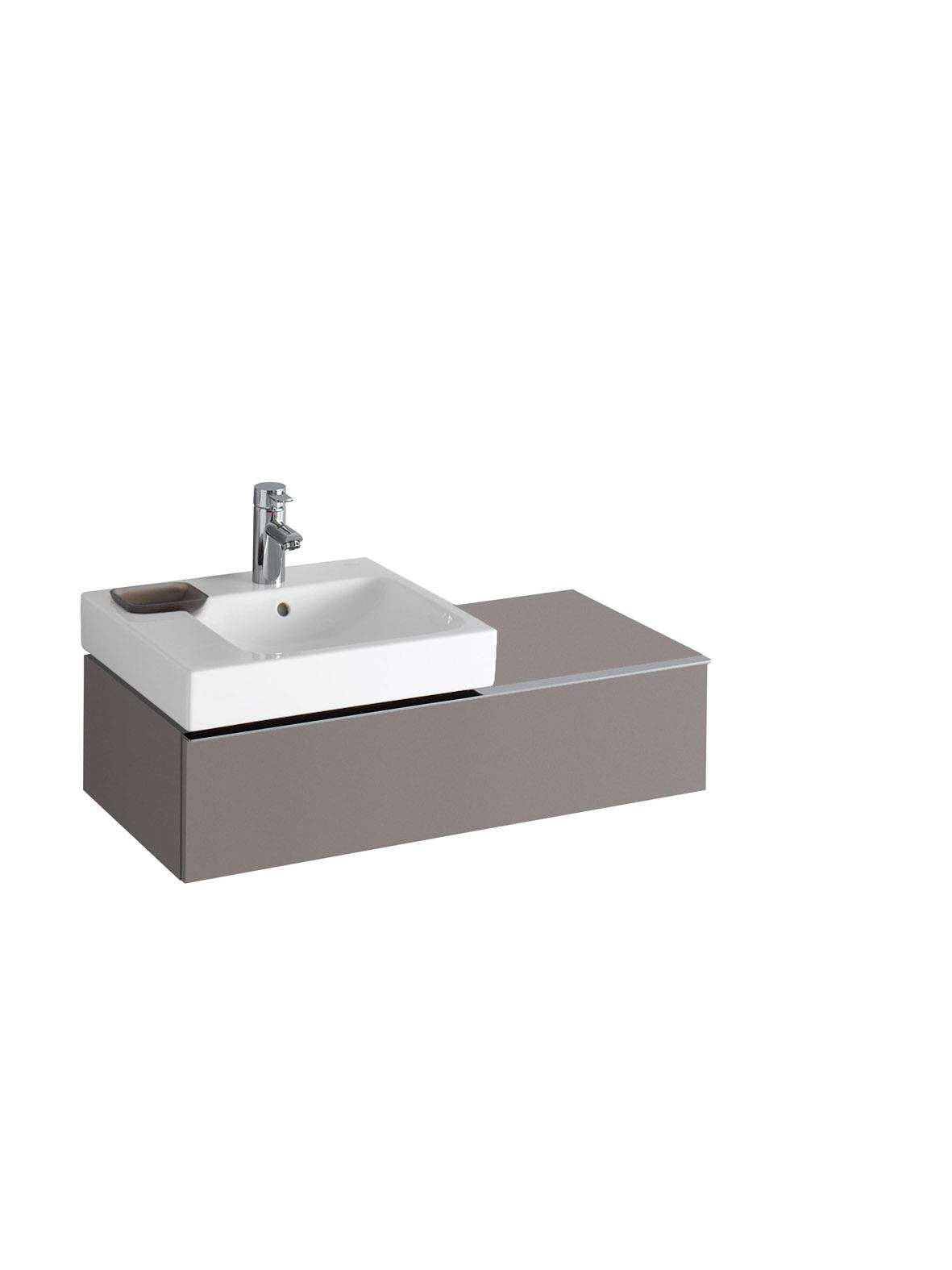 koupelnový nábytek KERAMAG Icon levé platinum