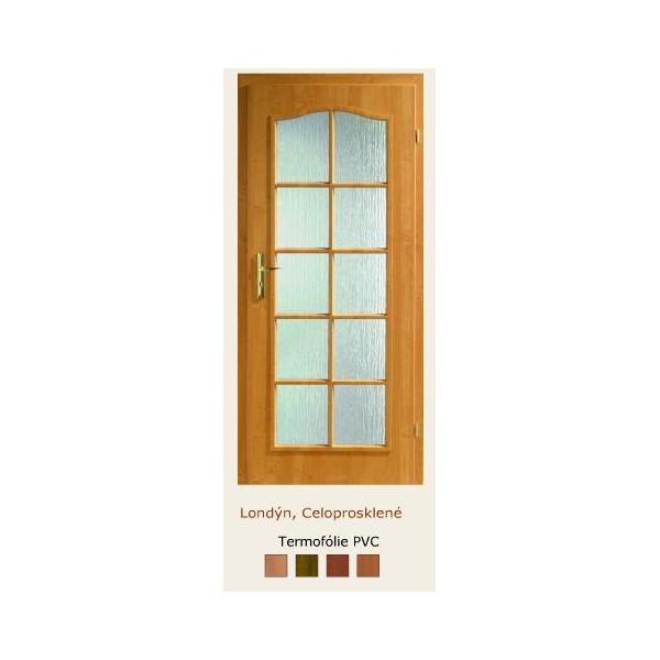 dveře vnitřní PORTA DOORS LONDÝN 3/4 SKLO RÁMEČEK