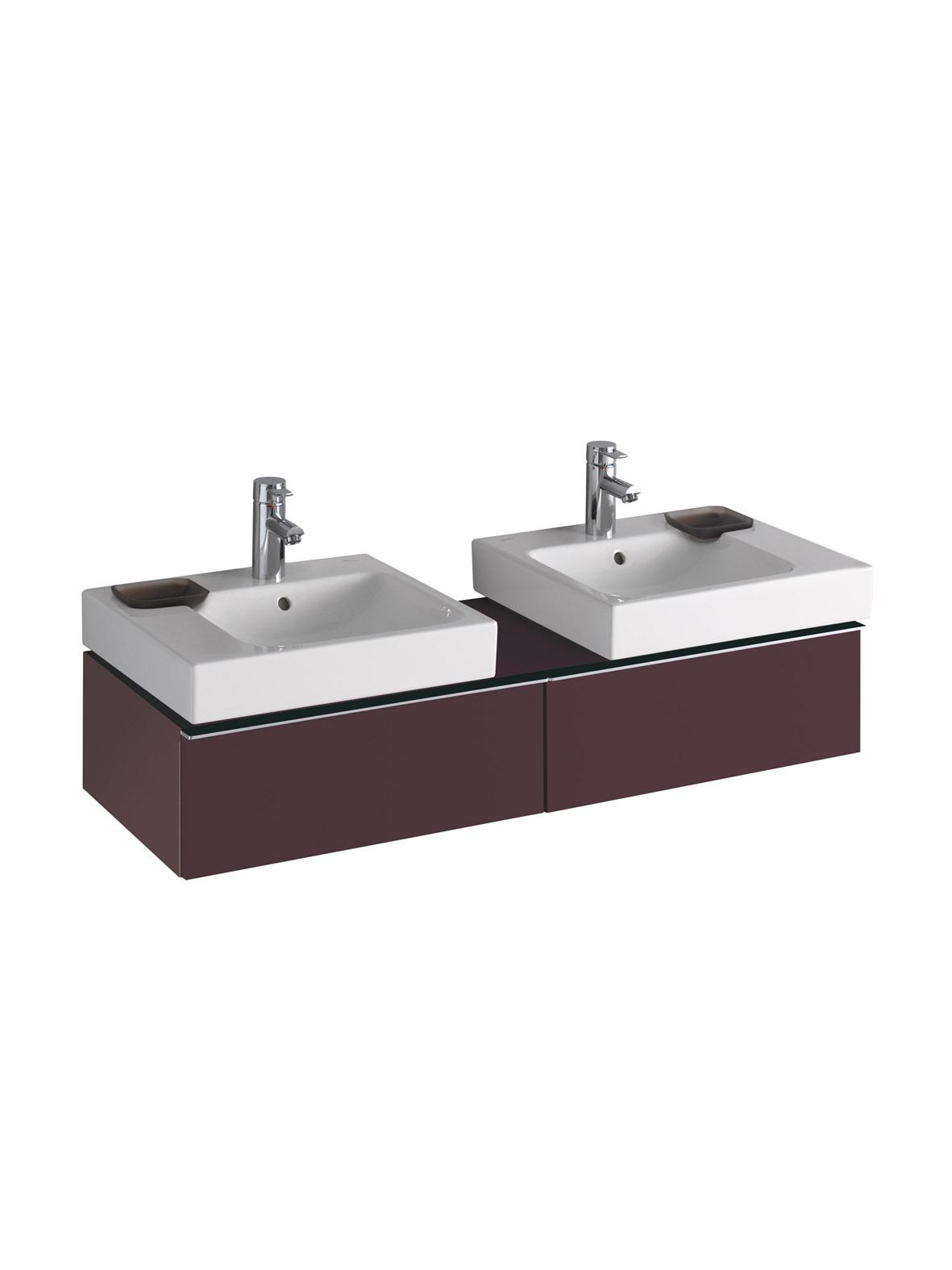 koupelnový nábytek KERAMAG Icon levá+pravá burgundy