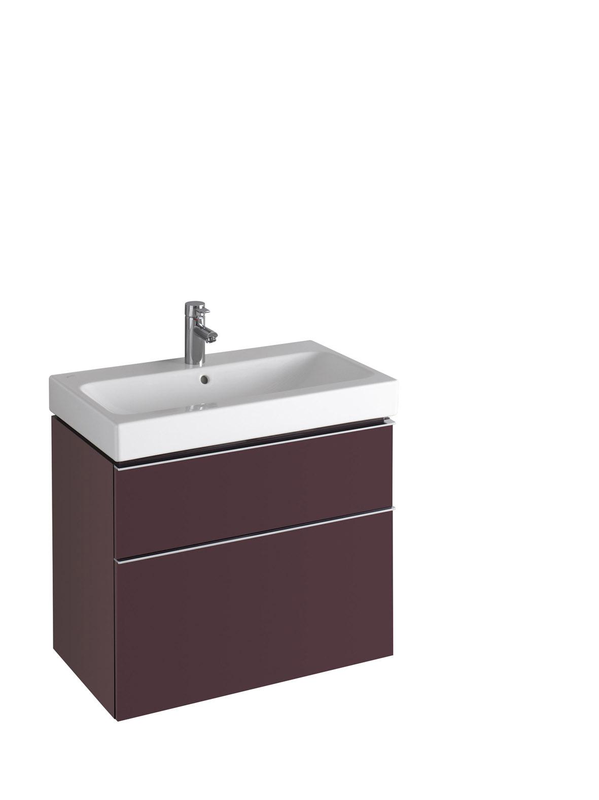 koupelnový nábytek KERAMAG Icon 74x62 burgundy