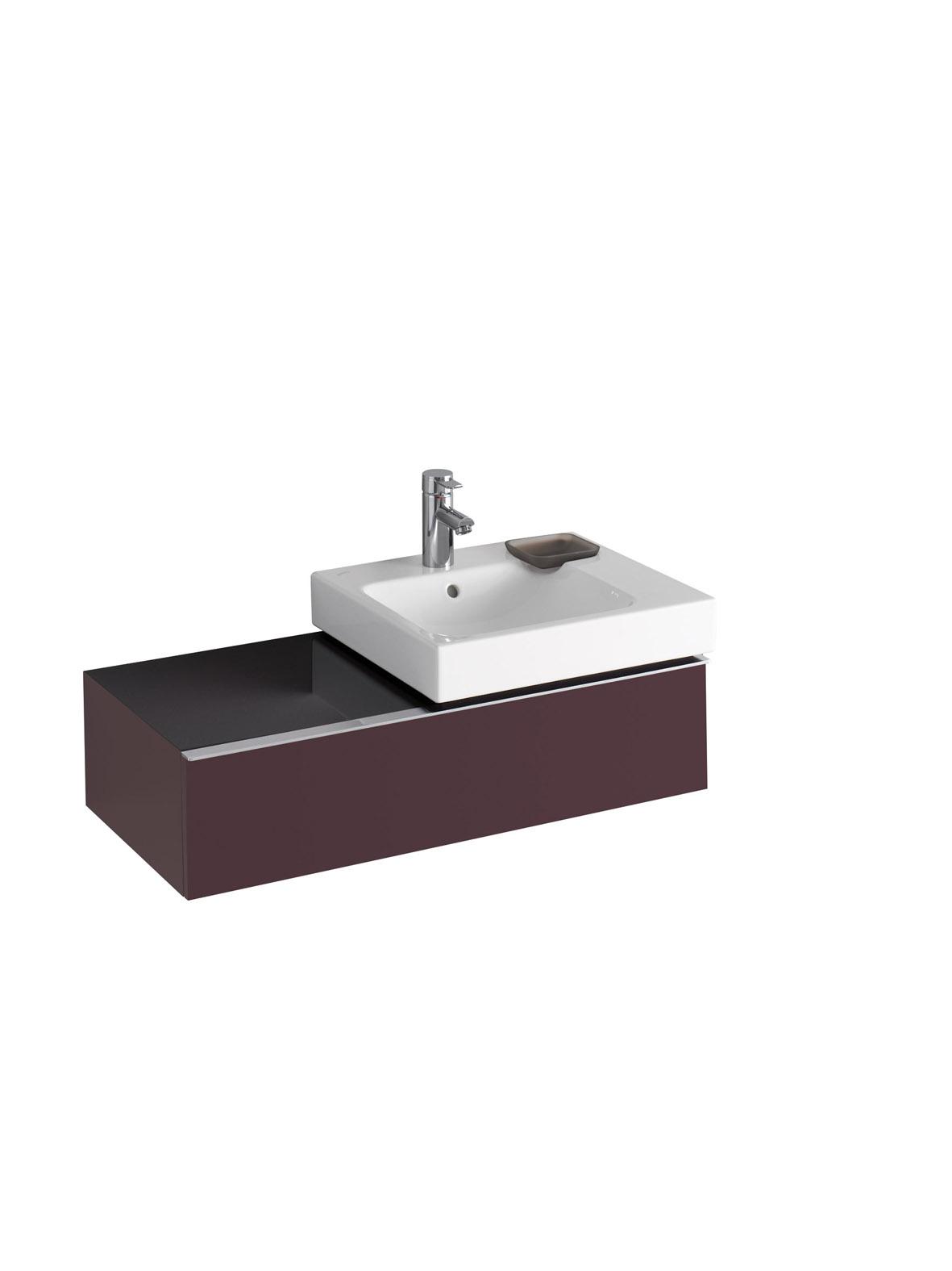 koupelnový nábytek KERAMAG Icon pravé burgundy