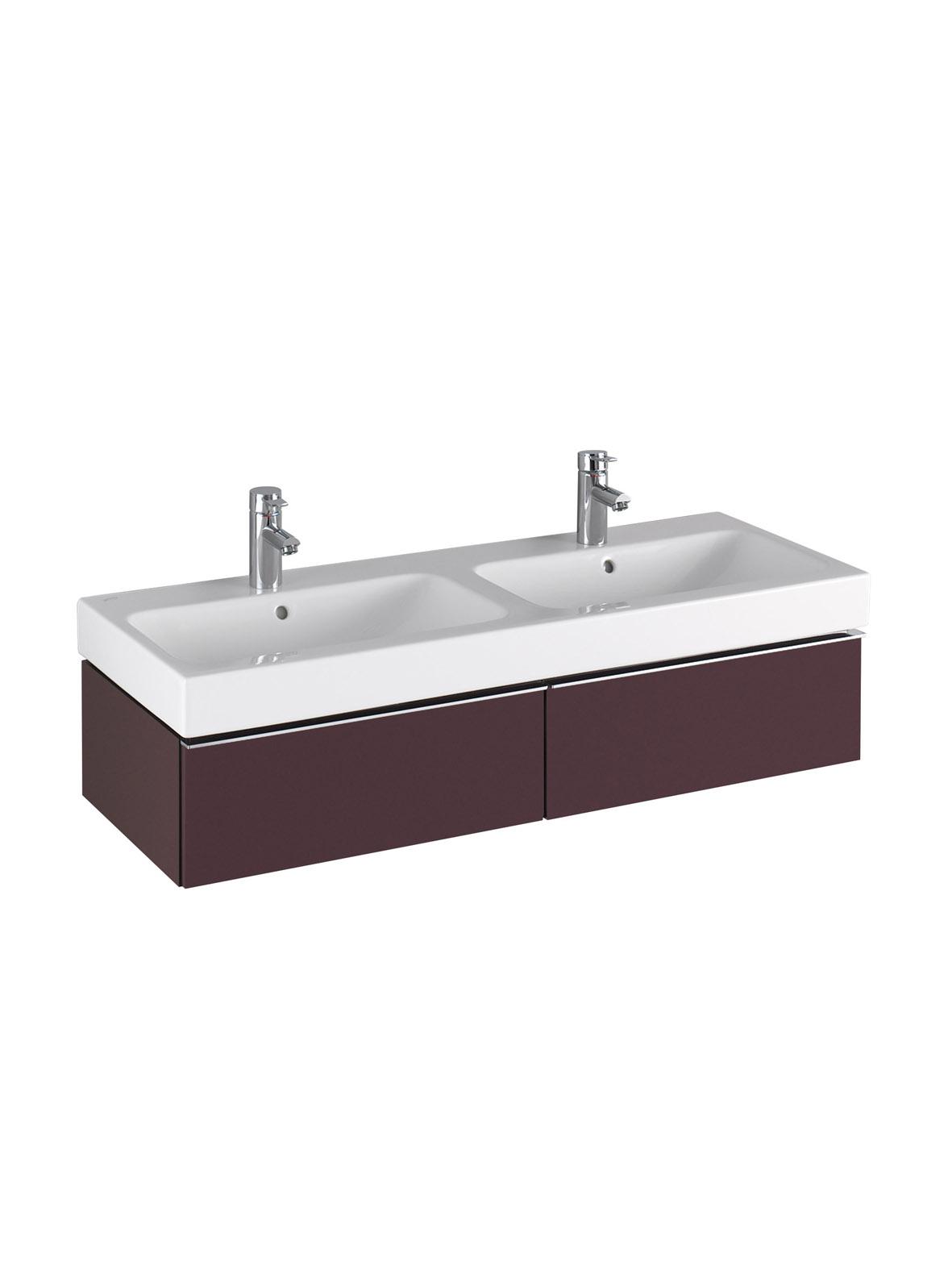 koupelnový nábytek KERAMAG Icon 119x24 burgundy