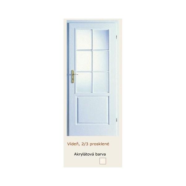 dveře vnitřní PORTA DOORS VÍDEŇ 2/3 SKLO RÁMEČEK
