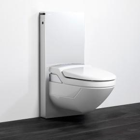 podomítková instalace GEBERIT MONOLITH 131.021.SI.1 sanitární modul pro závěsné WC, sklo bílé/hliník