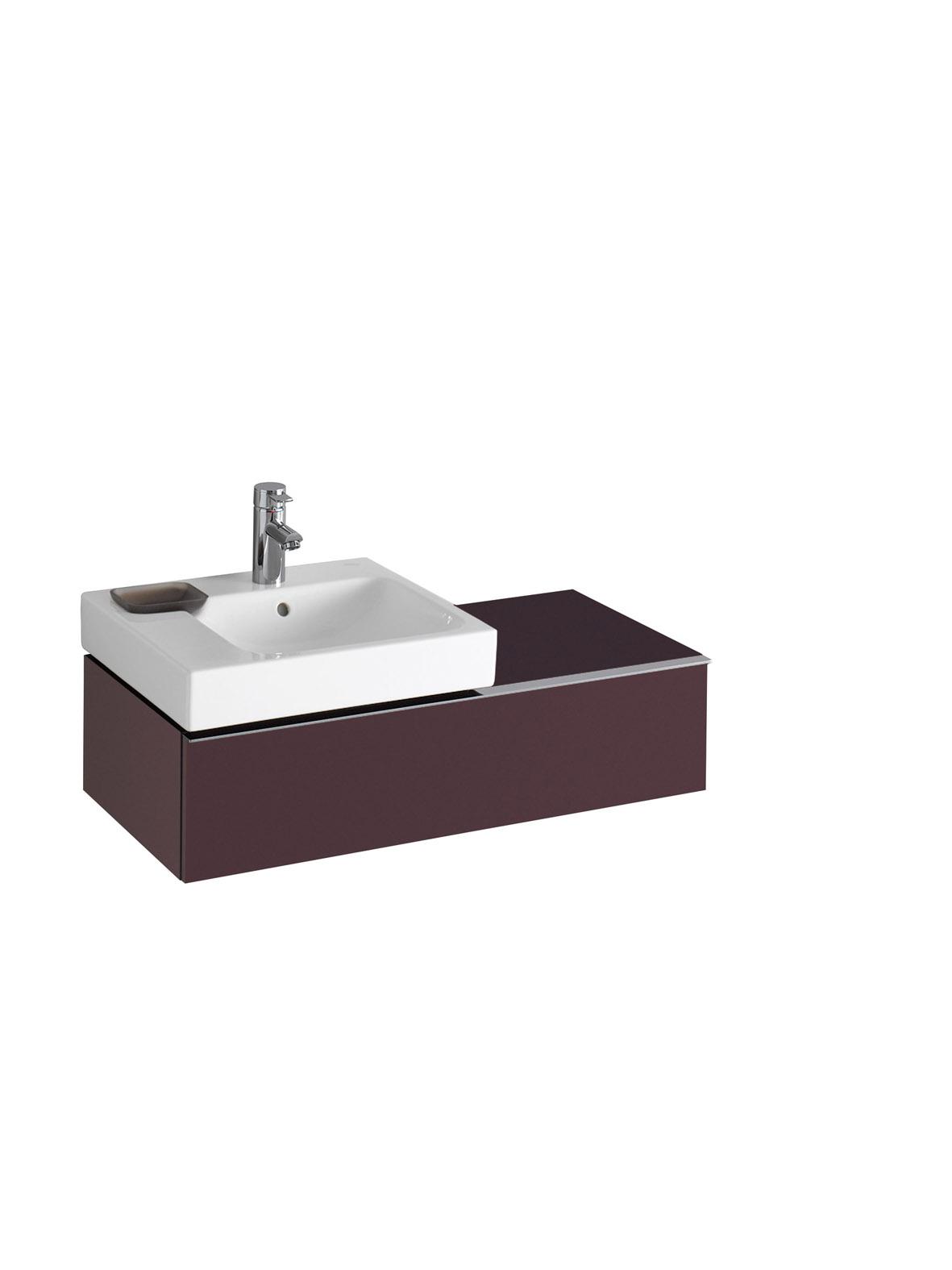 koupelnový nábytek KERAMAG Icon levé burgundy