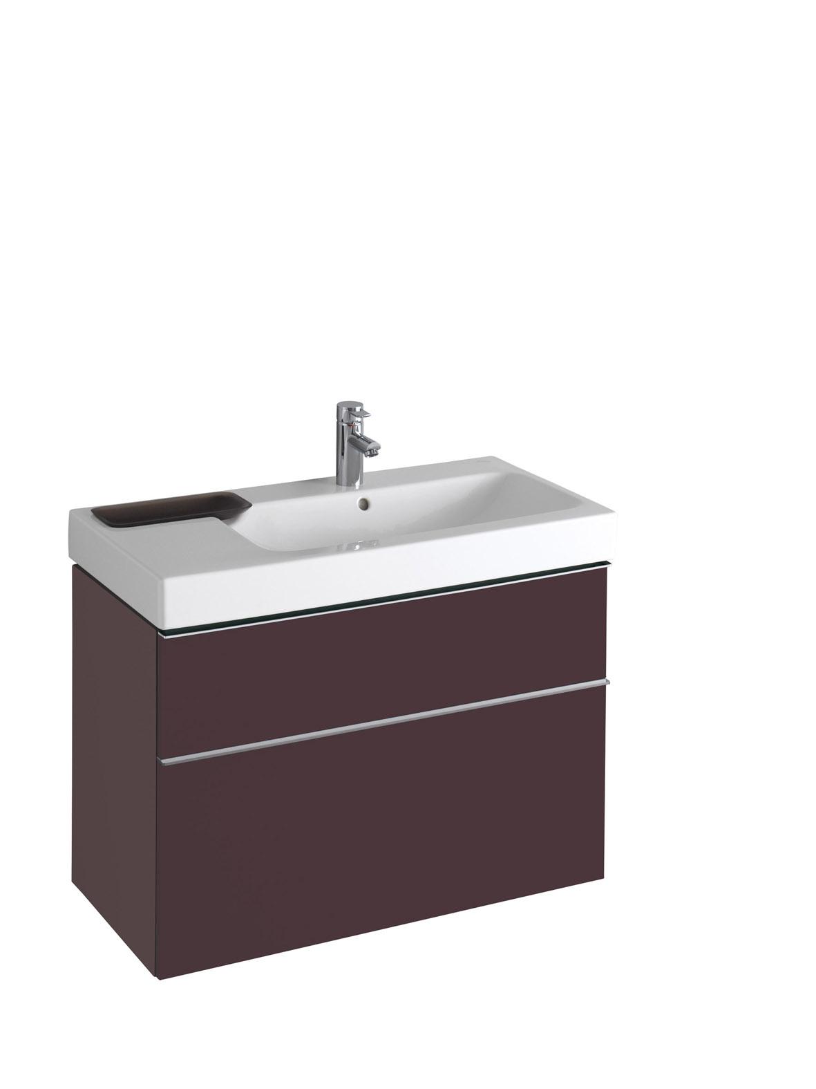 koupelnový nábytek KERAMAG Icon 89x62 burgundy