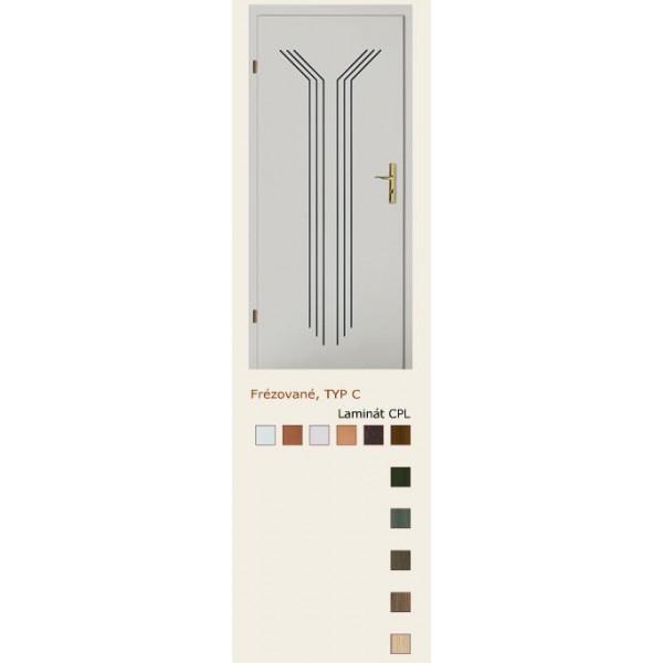 dveře vnitřní PORTA DOORS FRÉZOVANÉ VZOR C