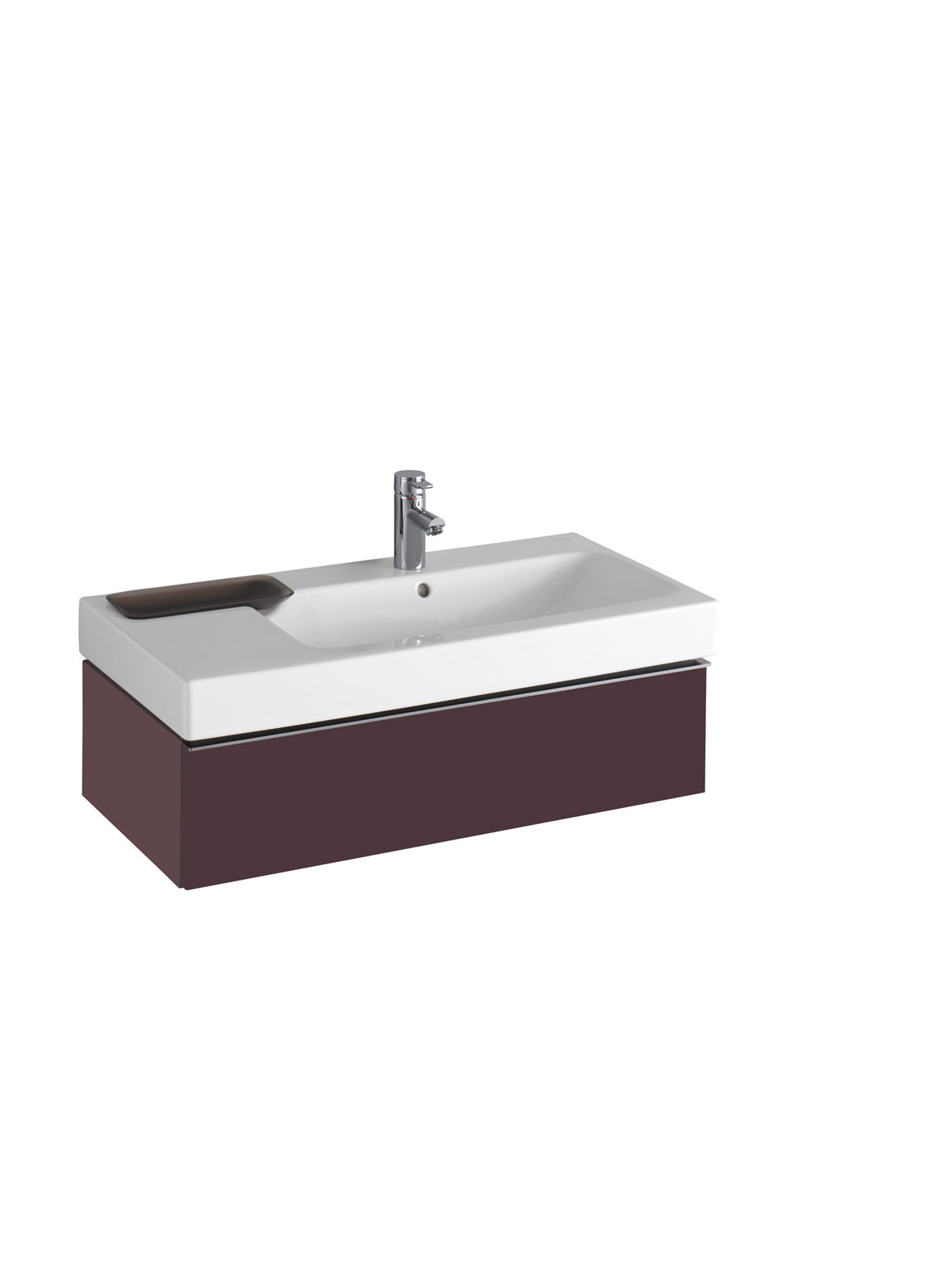koupelnový nábytek KERAMAG Icon 89x24 burgundy