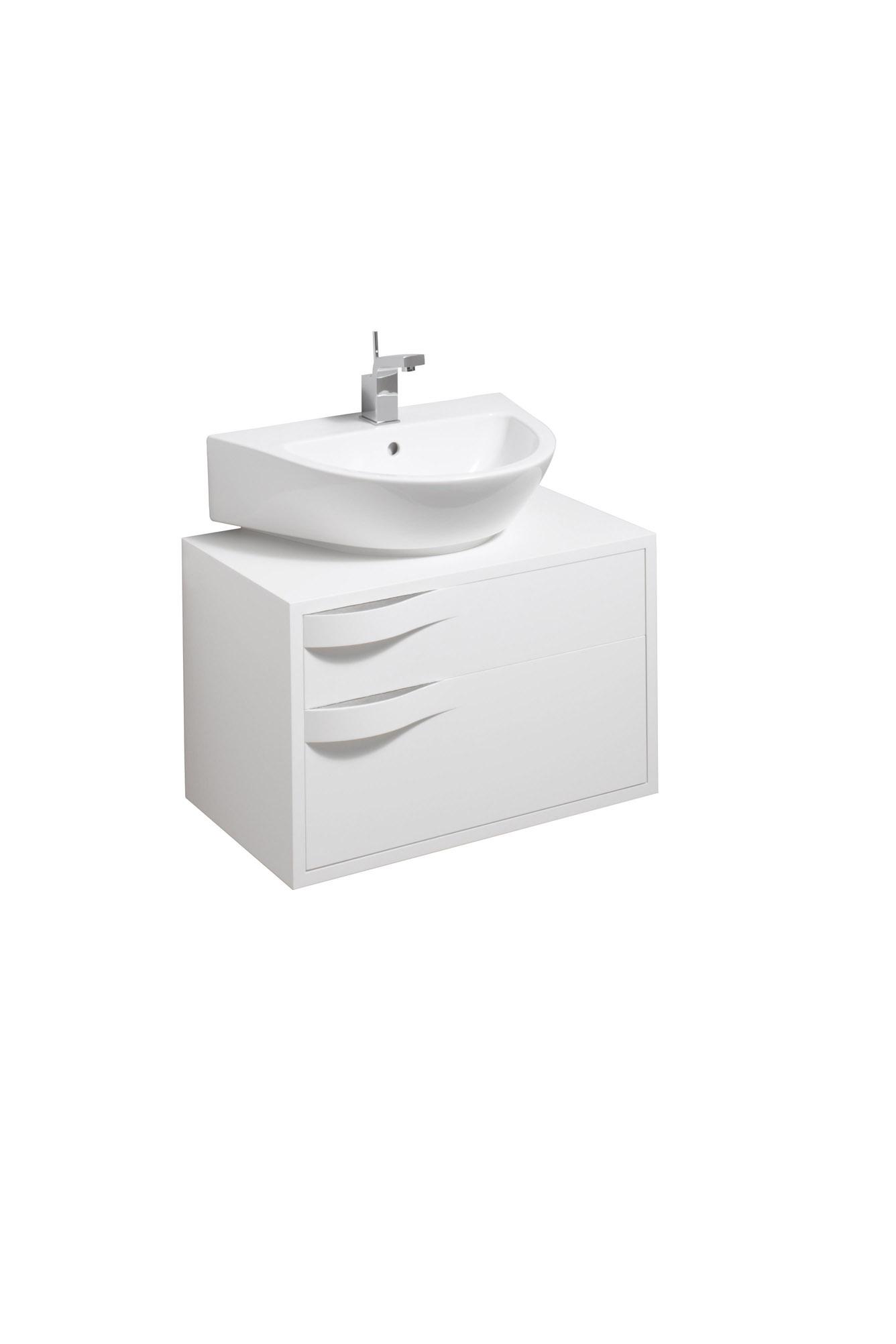 koupelnový nábytek KERAMAG Flow skříňka pod umyvadlo matná bílá