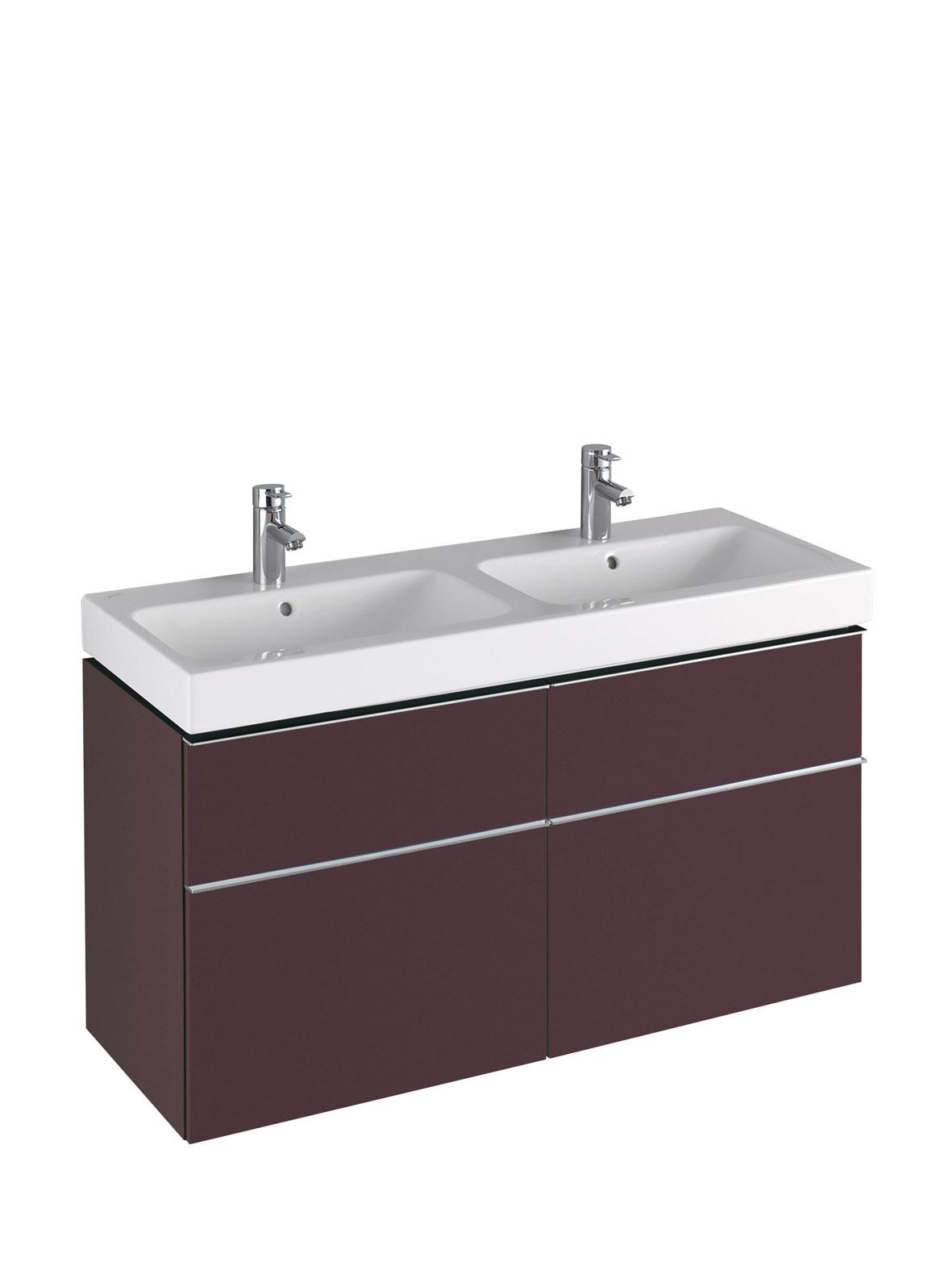 koupelnový nábytek KERAMAG Icon 119x62 burgundy